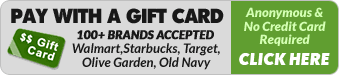 Pay with a Gift Card. No credit card required.